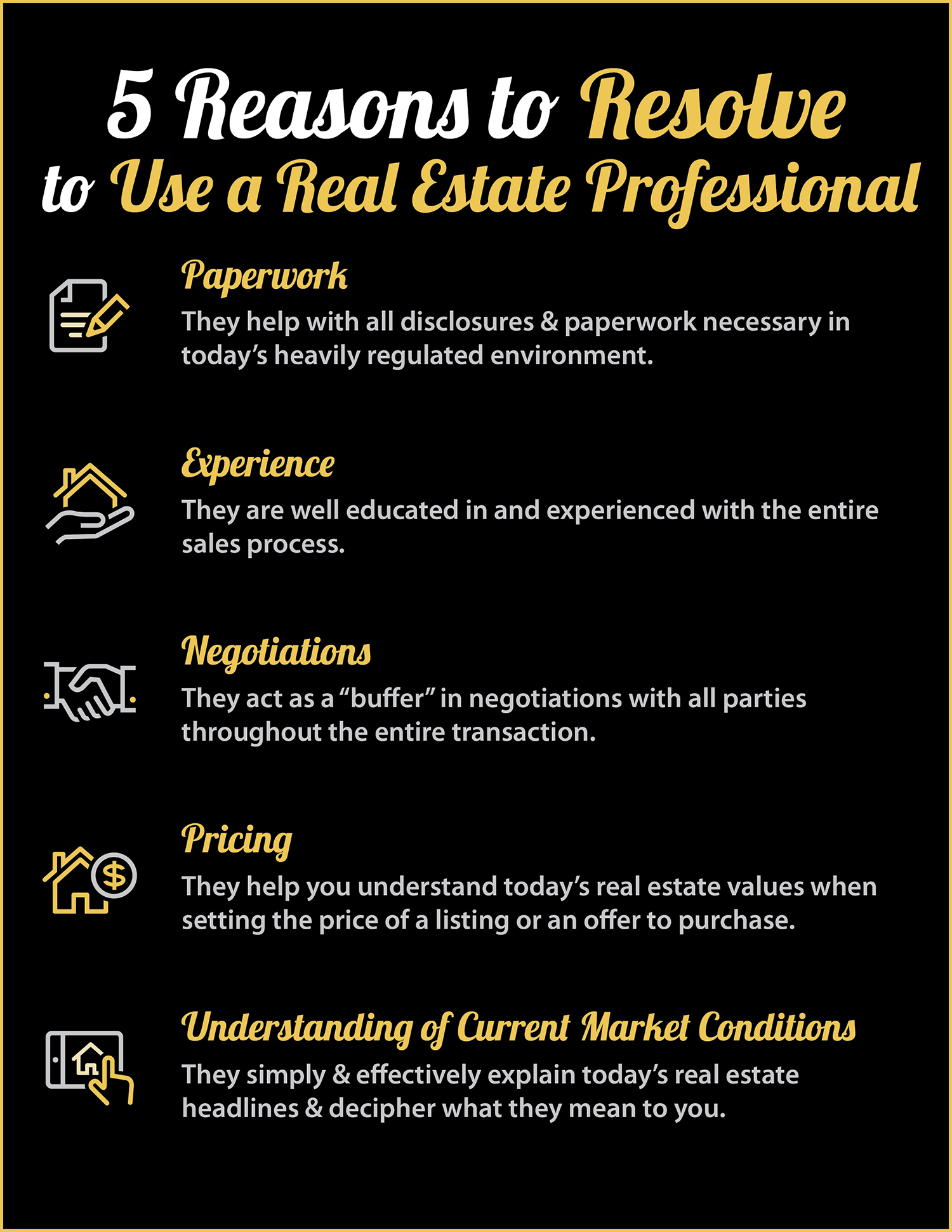 5 Reasons Why You Should Use A Real Estate Professional