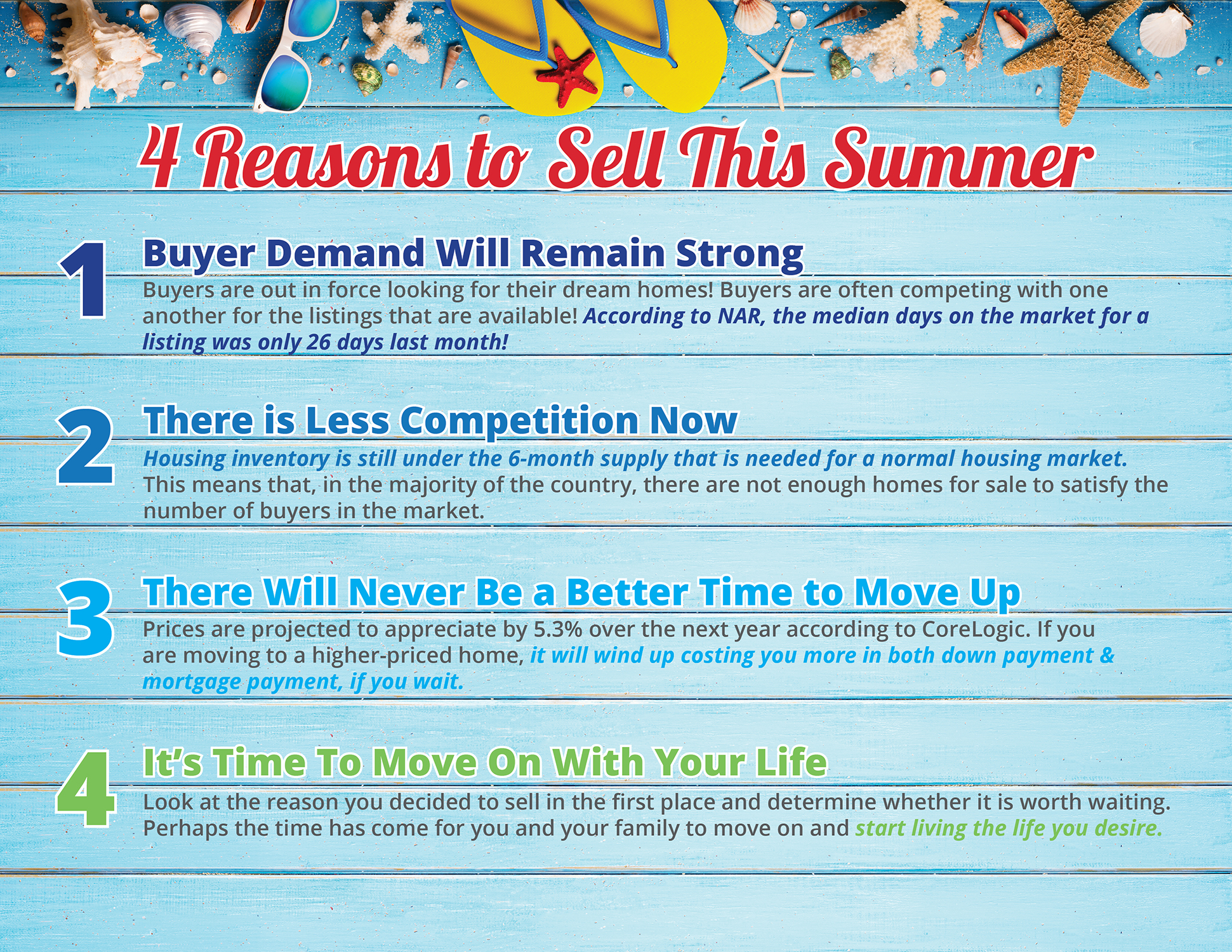 4 Reasons to Sell This Summer  | Simplifying The Market