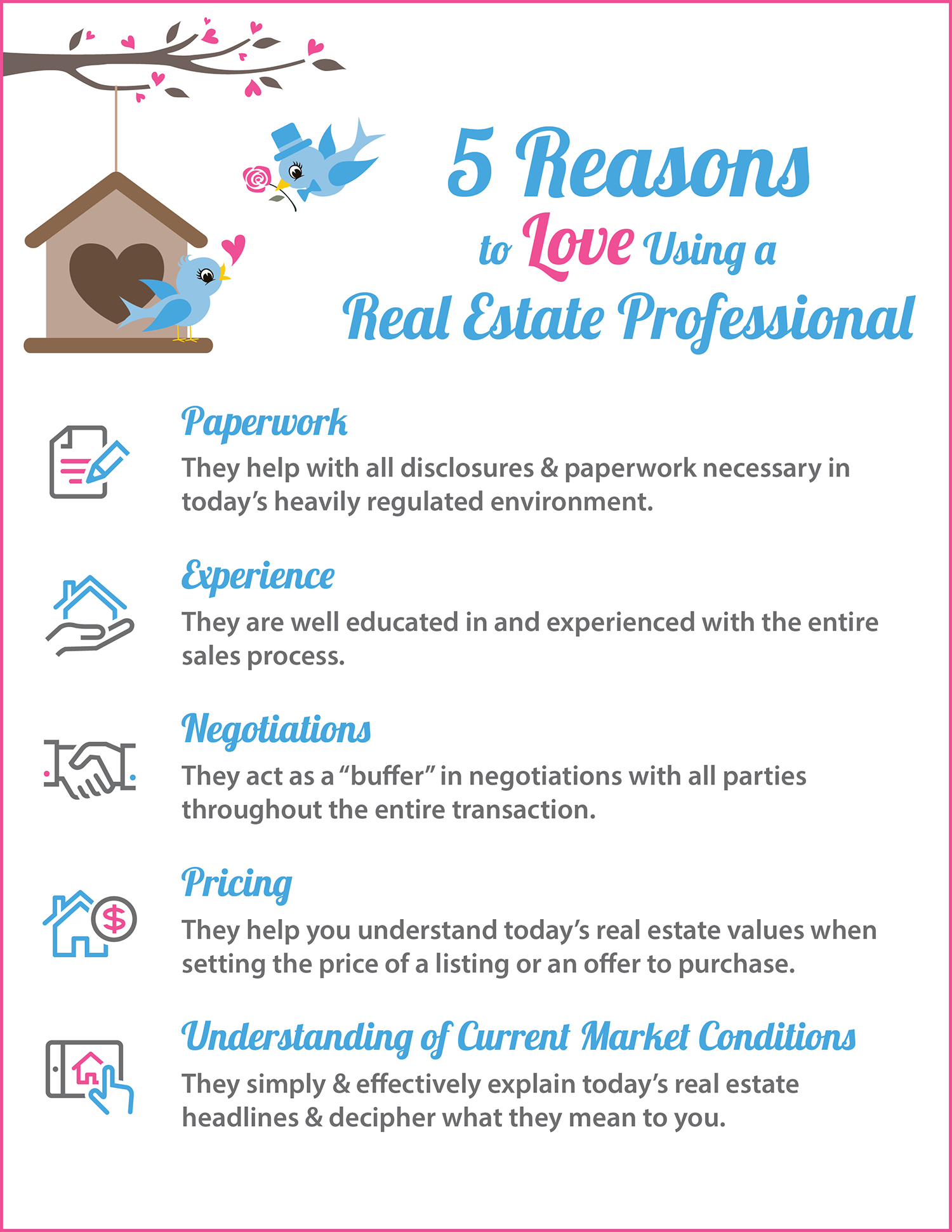 5 Reasons to Love Using a Real Estate Professional | Keeping Current Matters