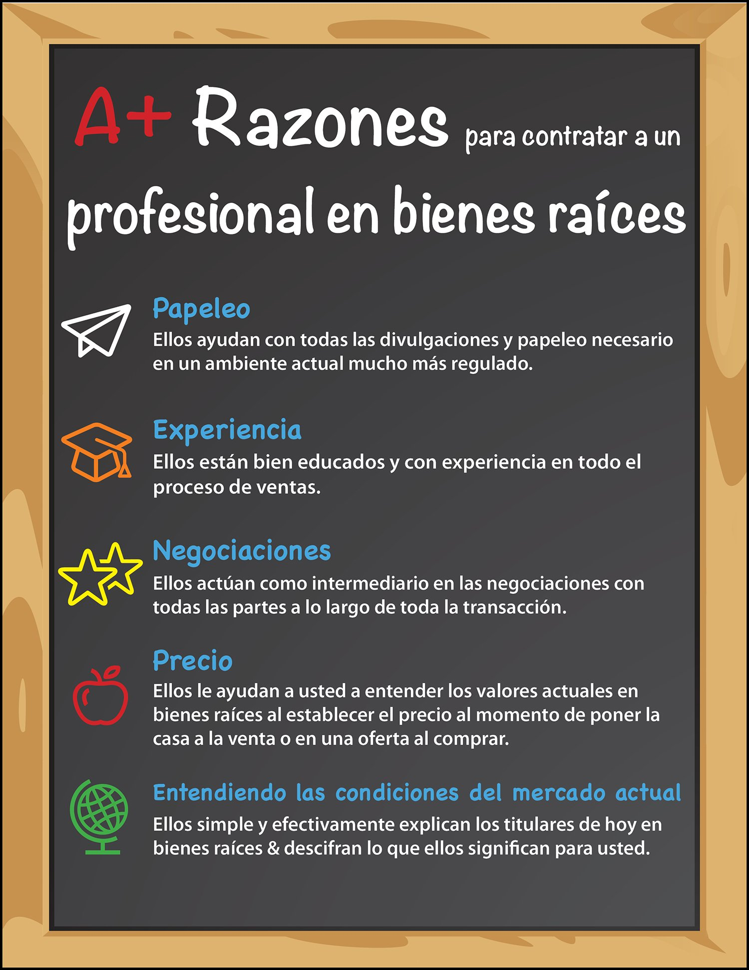 Razones A+ para contratar un profesional en bienes raíces [INFOGRAFíA] | Simplifying The Market