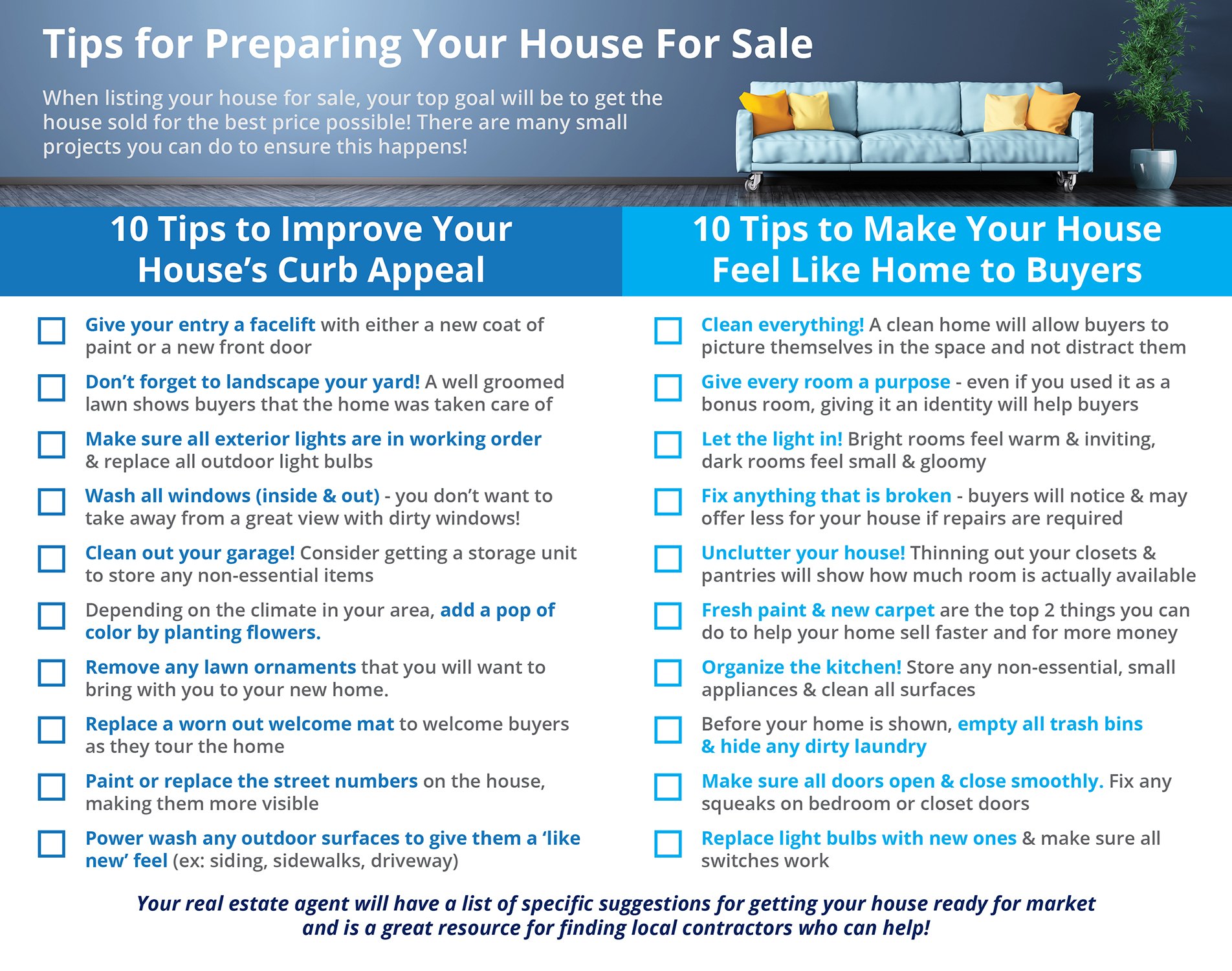 Tips for Preparing Your House For Sale [INFOGRAPHIC] | Simplifying The Market