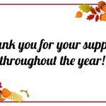 ¡Gracias por su apoyo!