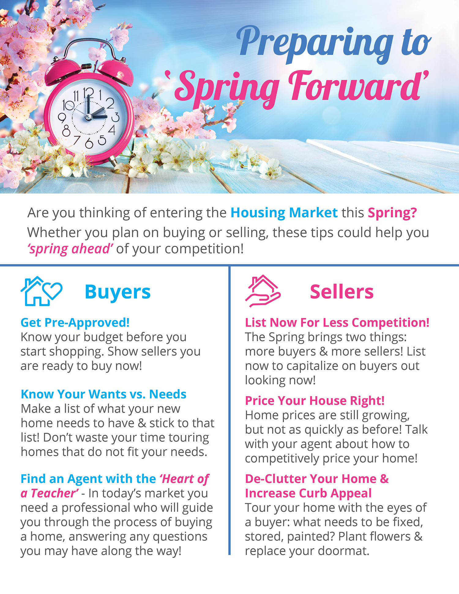 Preparing to Spring Forward  | Simplifying The Market