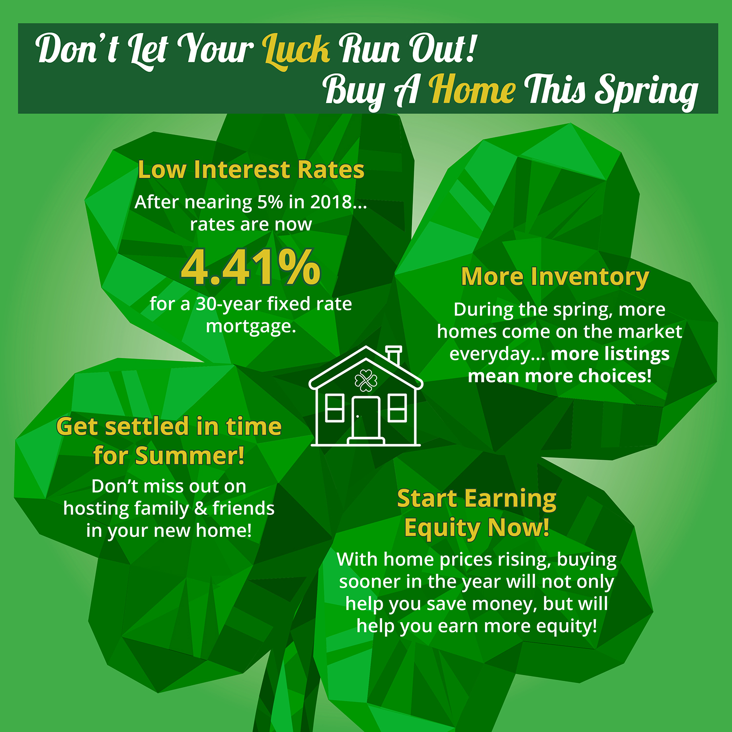 Don't Let Your Luck Run Out! Buy A Home This Spring  | Simplifying The Market