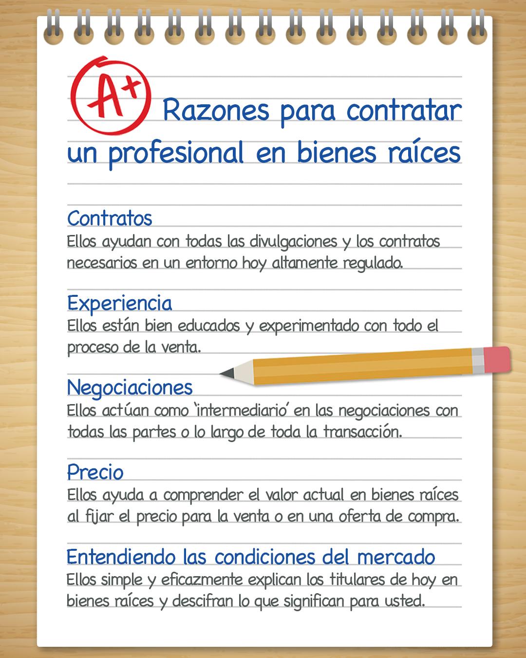 Razones A+ para contratar un profesional en bienes raíces [infografía]] | Simplifying The Market