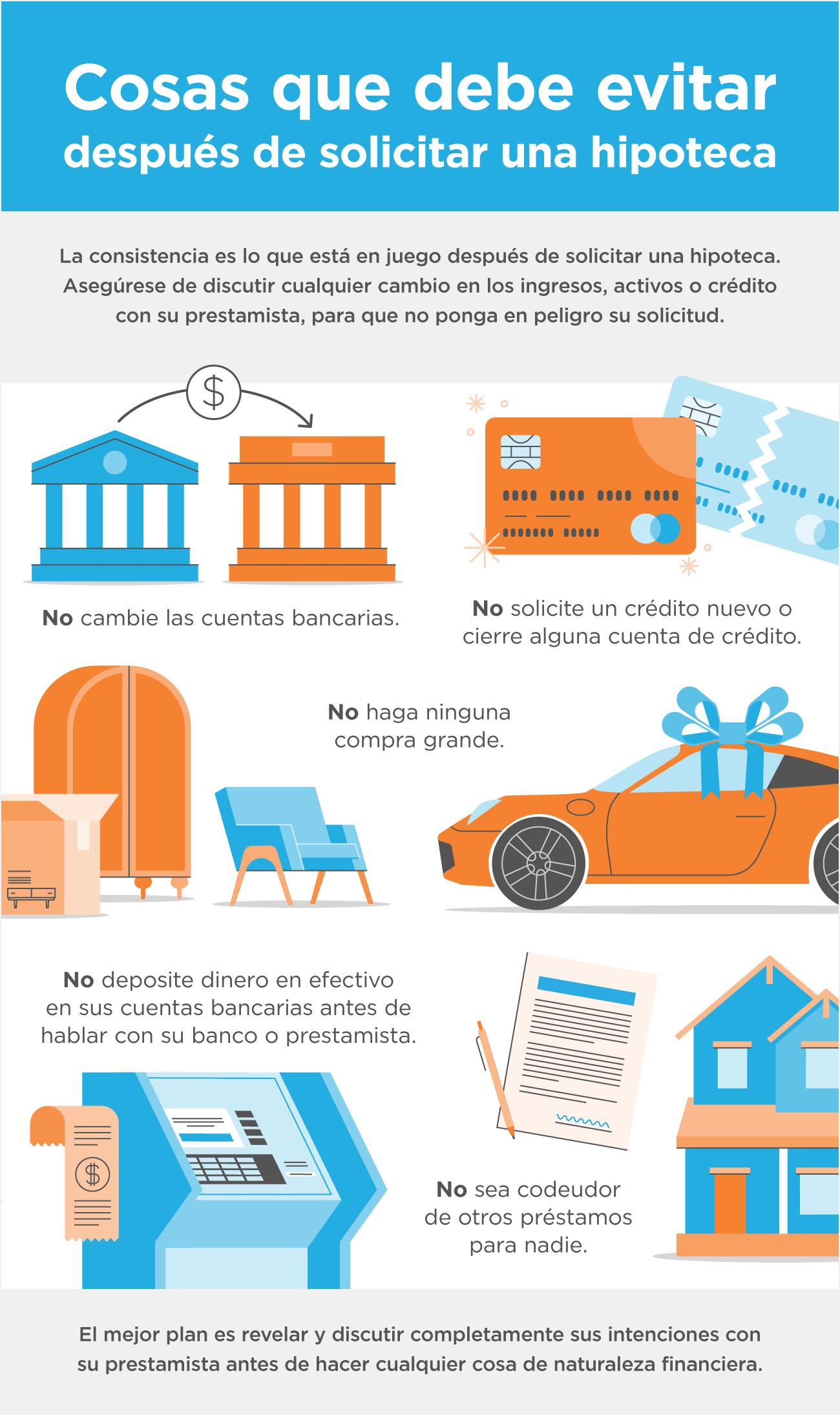 Cosas que debe evitar después de solicitar una hipoteca [infografía] | Simplifying The Market