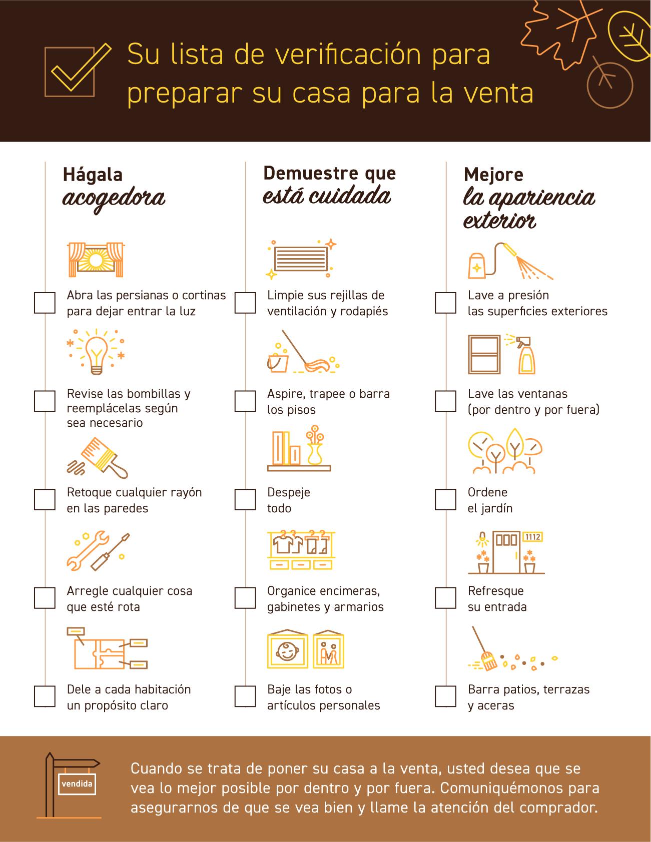 Su lista de verificación para prepararse para la venta [infografía] | Simplifying The Market